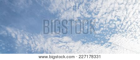 Altocumulus Tiny Fluffy Cloud Formation Background