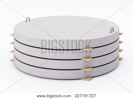 Well Bottoms Stacked In A Pile. 3d Rendering
