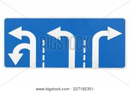 'follow Directions' Road Sign Isolated On White