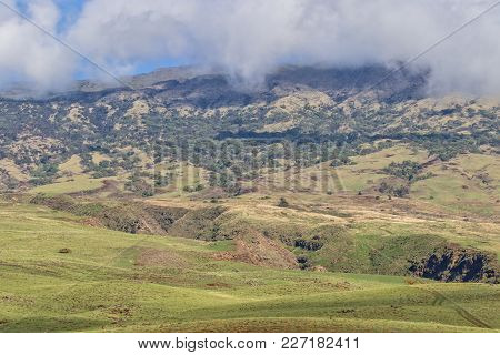 The Rugged Haleakala Volcano From The Hana Highway Maui