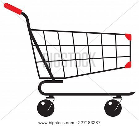 Shopping Carts To Transport The Purchased Goods.