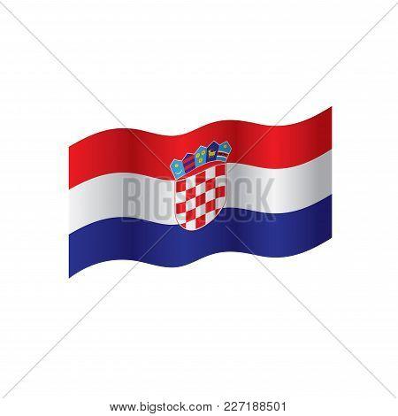 Croatia Flag, Vector Illustration On A White Background