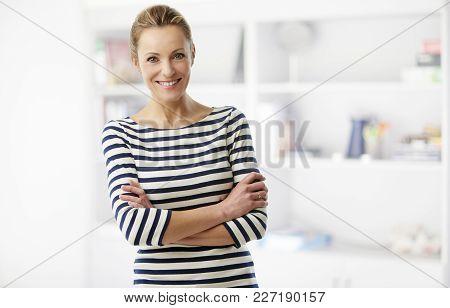 Happy Middle Aged Woman Portrait