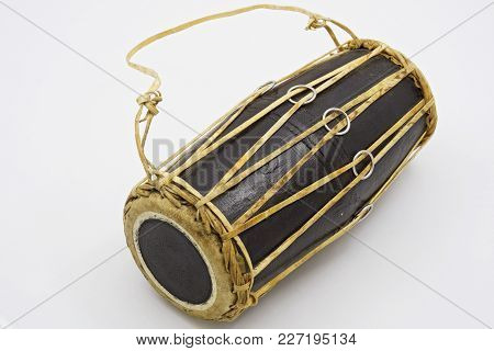 Mrdang - A Two-membrane Drum. It Is Widespread In The Practice Of Playing The Karnat Tradition In In