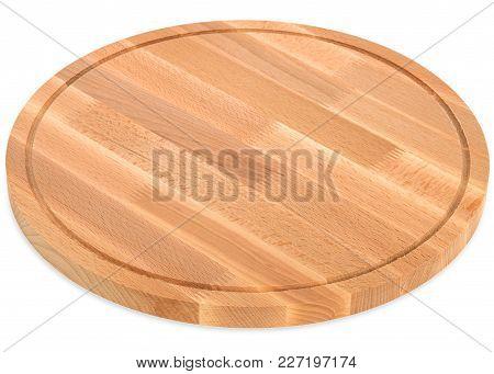 Wooden Round Cutting Board, Handmade Wood Cutting Board