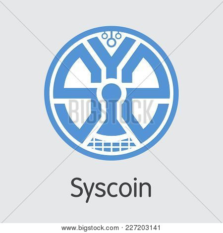 Syscoin: Blockchain Based Secure Blockchain Cryptocurrency. Isolated On Grey Sys Vector Colored Logo