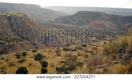 Expansive, Rugged Landscape Palo Duro Canyon In Texas
