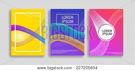 Modern Covers Set With Dinamic Gradients Circle Shapes. Vector Illustration Eps 10