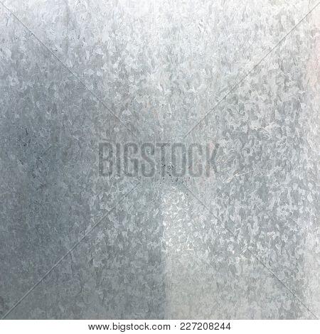 Zinc Galvanized Grunge Metal Texture. Old Galvanized Steel Metal Texture Background. Close-up Of A G