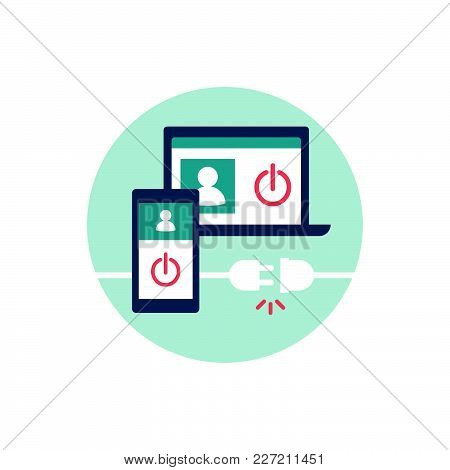 Log Out From Your Account On All Devices And Disconnect, Web Security Concept