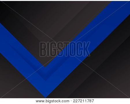 Abstract Blue Report Cover Template Design. Business Brochure Document Layout For Company Presentati