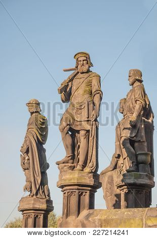 Allegorical Sculptures Of The Kranner Fountain In Prague, Which Was Delivered In 1850 To Emperor Fra