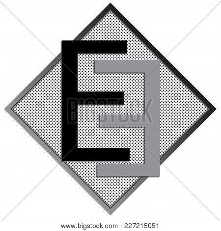 E Letter Logo Concept. Creative Emblem Design Template. Universal Elegant Icon. Premium Business Fin