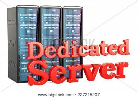 Dedicated Server Concept. 3d Rendering Isolated On White Background