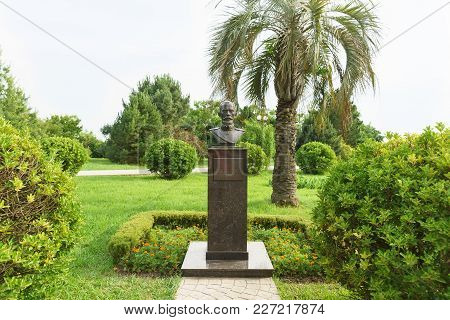 Russia, Sochi, Krasnodar Region-june 06.2017: Monument To The Founder Of The Dendrology Park Souther