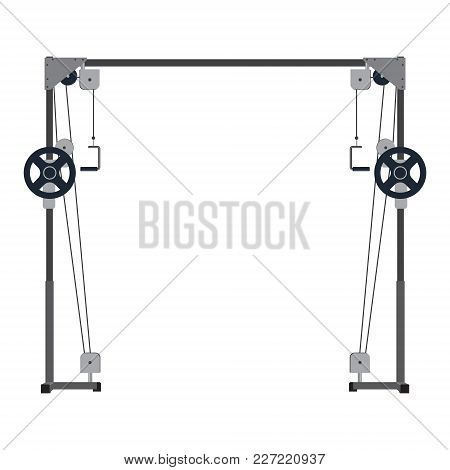 Cable Machine. Power Simulator Crossover. Multi-gym For Strength Training Block Type. Healthy Lifest