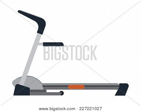 Treadmill. Flat. Trainer To Speed Up Metabolism And Weight Loss. Healthy Lifestyle. Vector