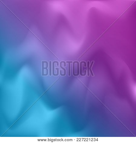 Vector Colorful Blurry Background. Abstract Holographic Texture. Modern Violet Beautiful Backdrop. P