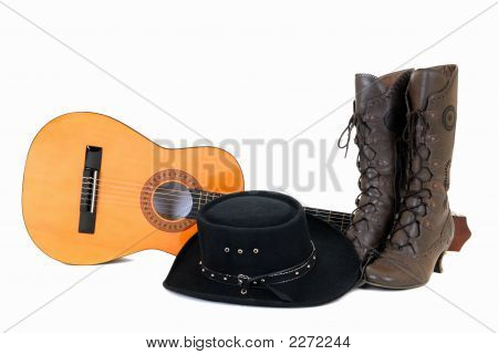 Country & Western Guitar Hat