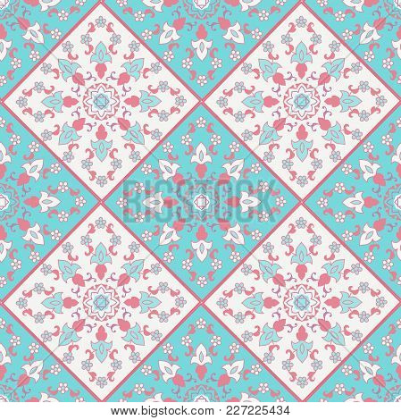 Arabic Arabesque Floral Pattern In Victorian Style. Ornamental For Card For Cafe, Restaurant, Shop,