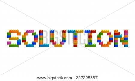 Word Solution From The Blocks Of The Constructor. A Word From The Constructor. Multicolored Words Wi
