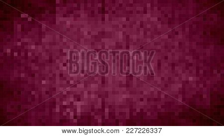 Burgundy Abstract Grunge Background - Illustration,  Mosaic Grunge Lilac Background,  Squares Of Lig