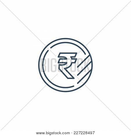 Currency Signs, Money Exchange, Ruble Coin, Vector Mono Line Icons