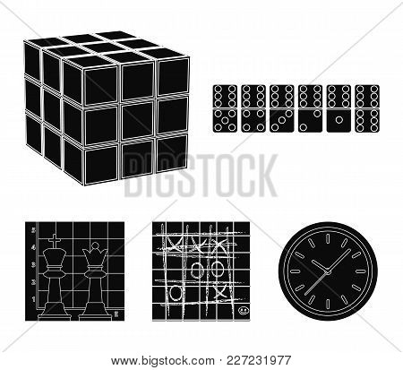Board Game Black Icons In Set Collection For Design. Game And Entertainment Vector Symbol Stock  Ill