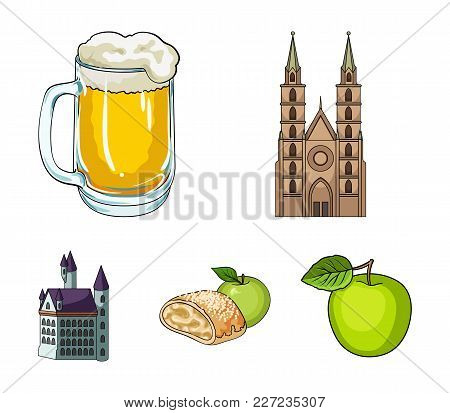 Country Germany Cartoon Icons In Set Collection For Design. Germany And Landmark Vector Symbol Stock
