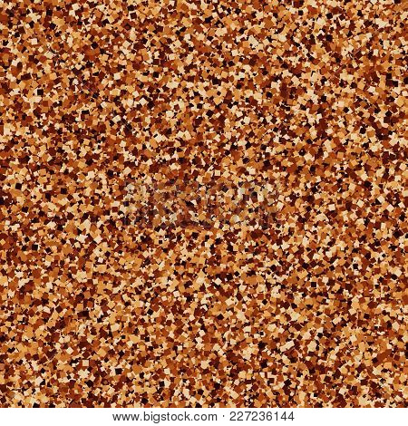 Coffee Color Texture Background. Chocolate Shades. Brown Particles. Vector Illustration,eps 10.