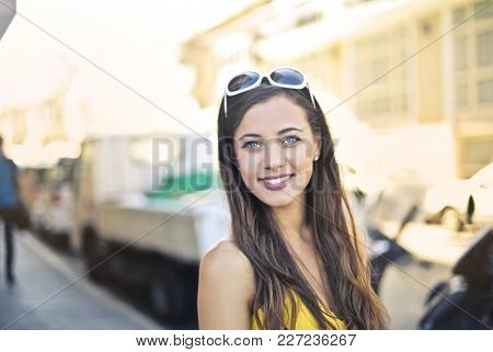 Portrait of pretty young woman