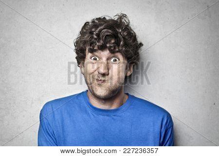 Man making funny jokes