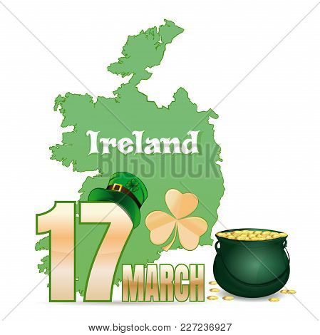 Design Element For Feast Of Saint Patrick Day