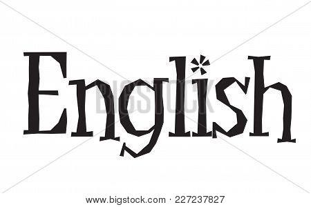English Stamp. Typographic Label, Stamp Or Logo