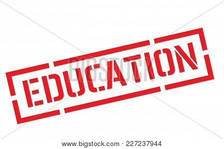 Education Stamp. Typographic Label, Stamp Or Logo