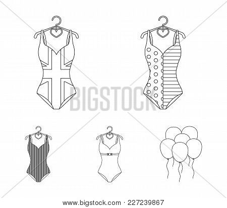 Different Kinds Of Swimsuits. Swimsuits Set Collection Icons In Outline Style Vector Symbol Stock Il