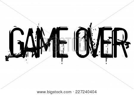 Game Over Stamp. Typographic Sign, Stamp Or Logo