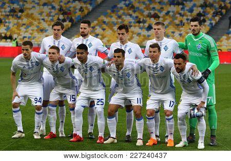 Kyiv, Ukraine - February 18, 2018: Ukrainian Premier League Game Fc Dynamo Kyiv V Olimpik Donetsk. F