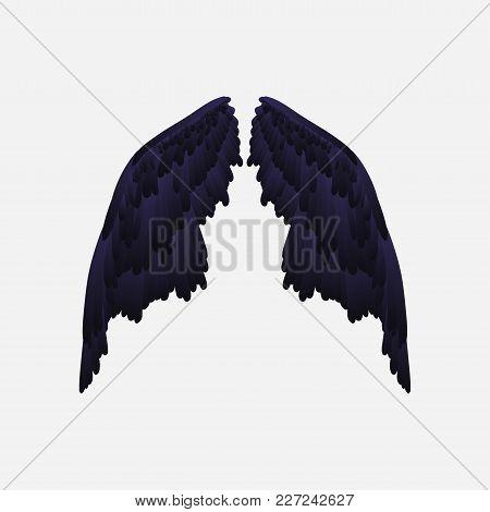 Vector Wings. Demon Wings. Wings Of A Bird. Gradient. Wings Of A Raven.