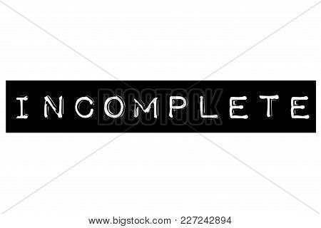 Incomplete Typographic Stamp. Typographic Sign, Badge Or Logo