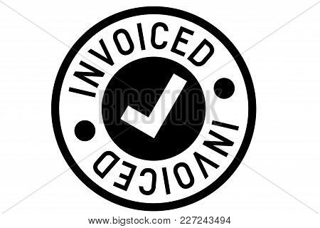 Invoiced Typographic Stamp. Typographic Sign, Badge Or Logo