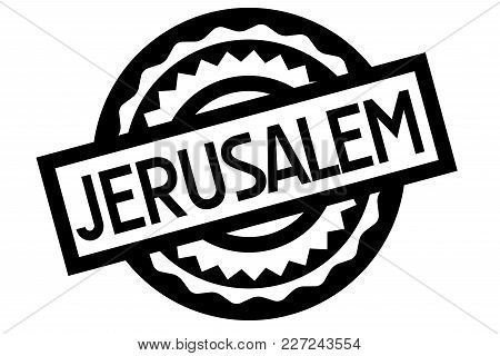 Jerusalem Typographic Stamp. Typographic Sign, Badge Or Logo