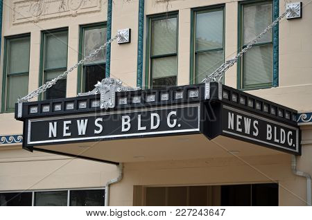 Augusta, Ga - February 19, 2018 The News Building On Broad Street Is One Of Several Noted Historical