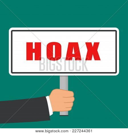 Illustration Of Hoax Word Sign Flat Concept