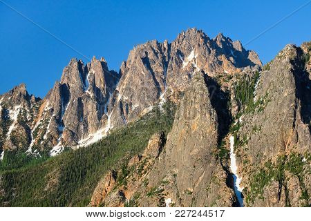 The Majestic Wine Spires, Silver Star Mountain And La Petit Cheval. Washington Pass, North Cascades