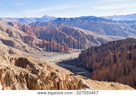 Bolivian Canyon Near Tupiza,bolivia.quebrada De Palala.rock Formations
