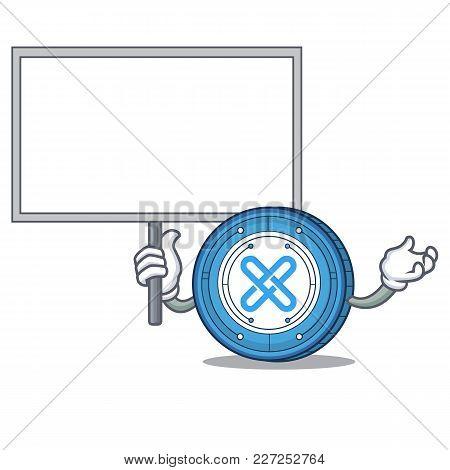 Bring Board Gxshares Coin Character Cartoon Vector Illustration
