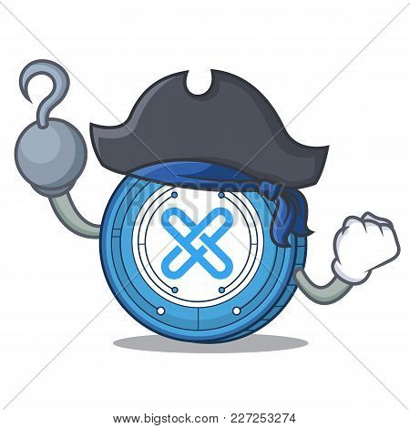 Pirate Gxshares Coin Character Cartoon Vector Illustration