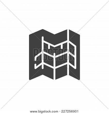 Blueprint Vector Icon. Filled Flat Sign For Mobile Concept And Web Design. Architecture Simple Solid