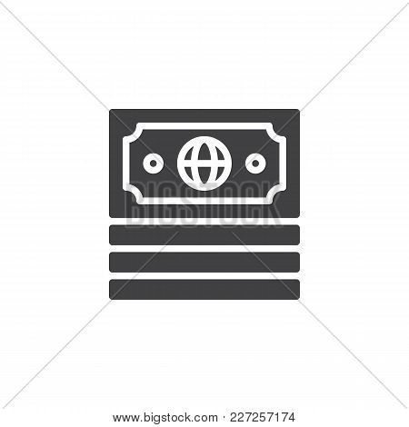 Money Vector Icon. Filled Flat Sign For Mobile Concept And Web Design. Economy Simple Solid Icon. Mo